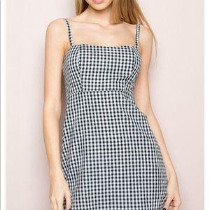 Cute brandy melville checkered mini dress